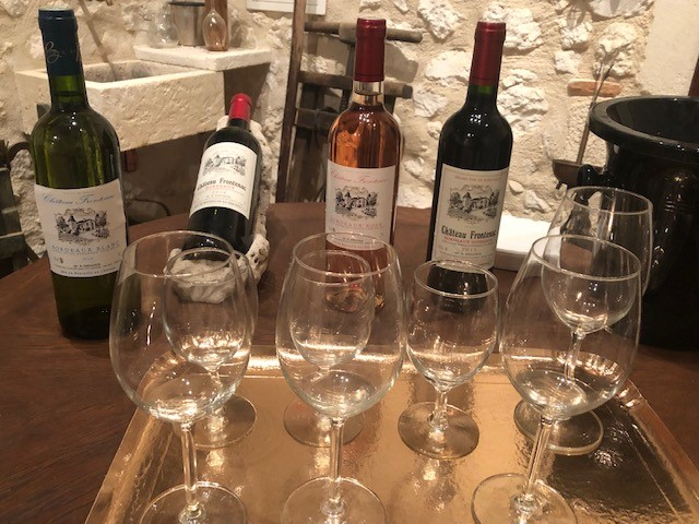 Tasting of Château Frontenac wines